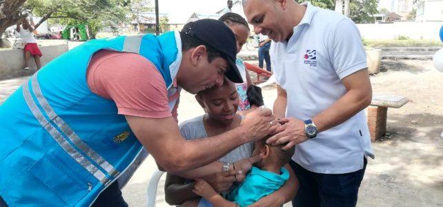 1021 Dosis de Vacunas Aplicó la ESE Cartagena en Primer Día de Jornada Nacional