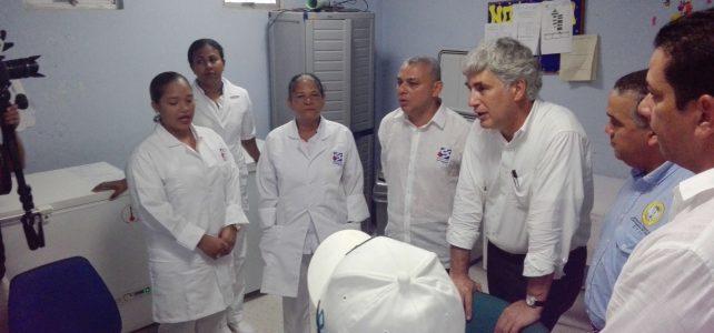 Ministro de salud inspeccionó obras del hospital de El Pozón